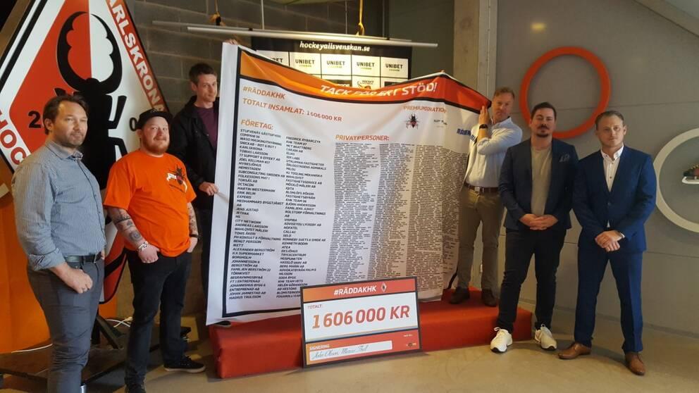 Karlskrona HK tar emot gåva