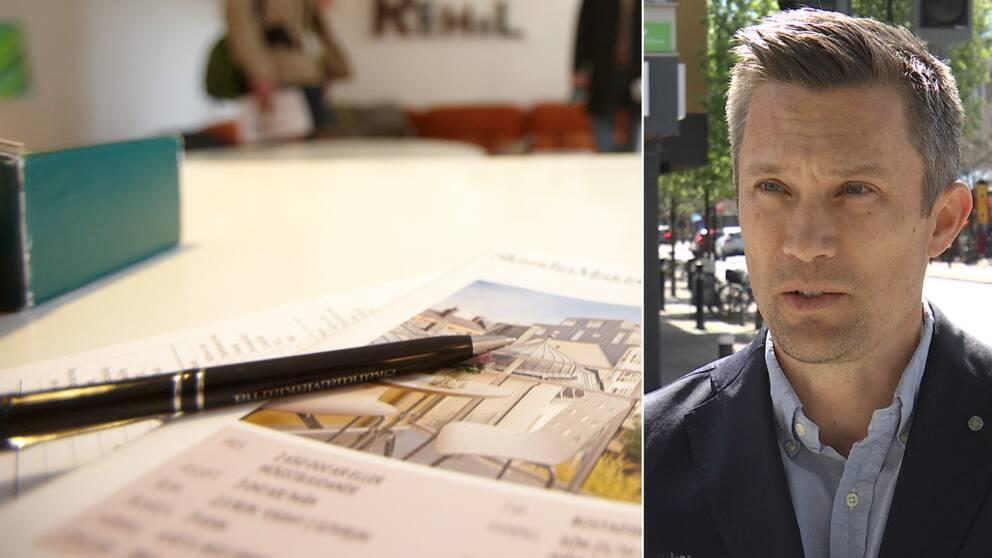 Mäklaren Mattias Wassberg berättar om hur unga vuxna fått det tuffare att komma in på bostadsmarknaden.