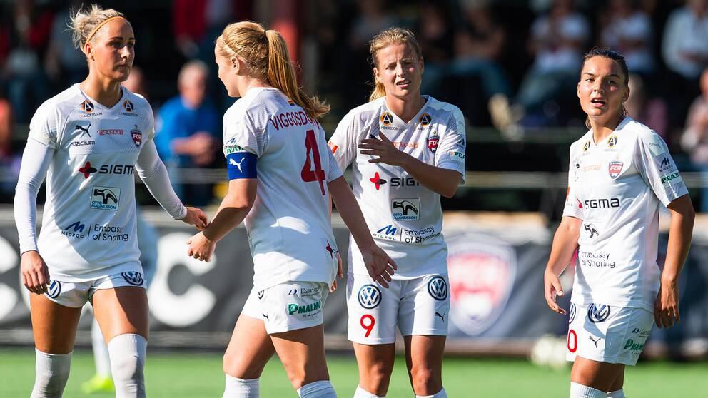 Spelare i Rosengård.