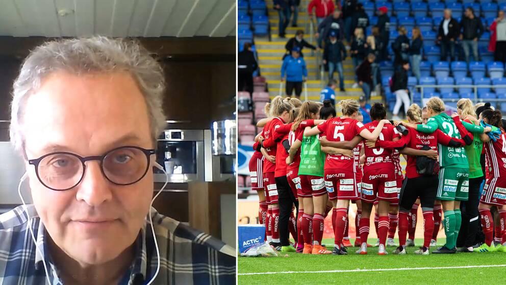 Piteå IF:s ordförande Rikard Fahlman och Piteå IF.