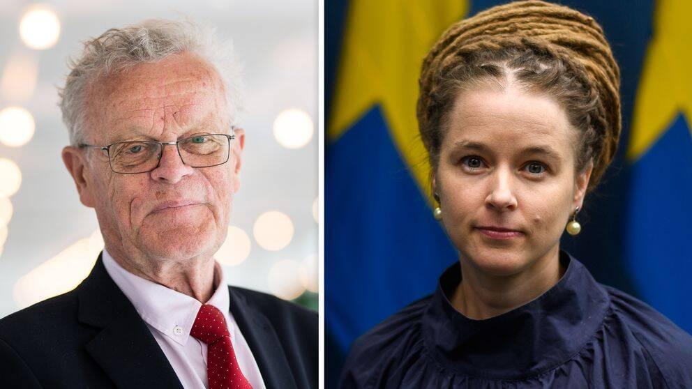 Björn Eriksson, RF, och Amanda Lind, idrottsminister.