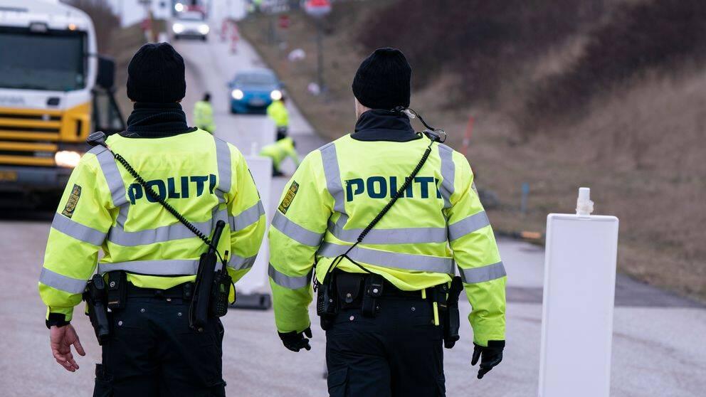 Gränskontroll vid Öresundsbron. Danmark stängde gränsen mot Sverige 14 mars.