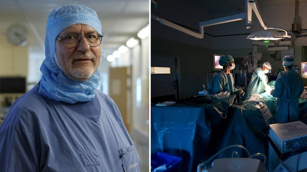 Överläkare på Akademiska sjukhuset och en operationssal