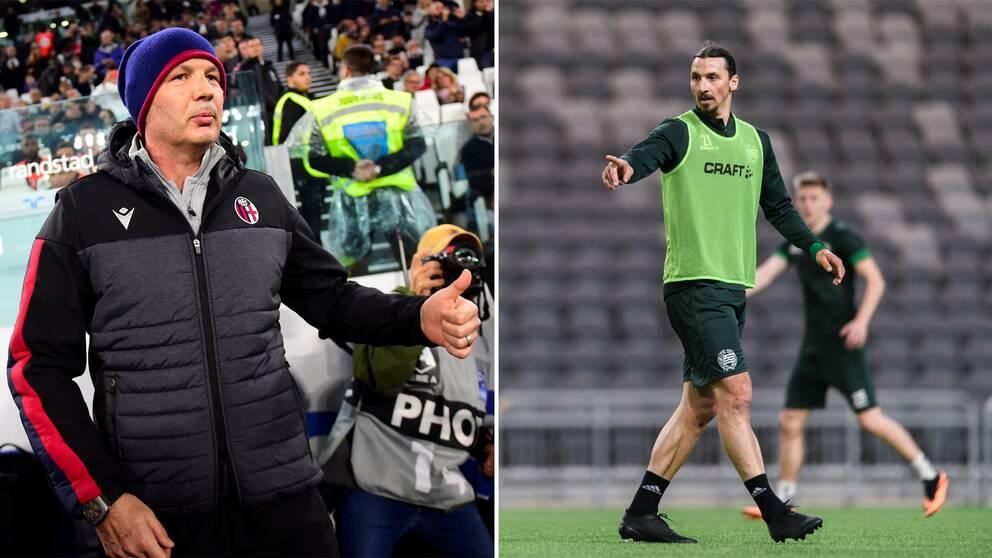 Sinisa Mihajlovic och Zlatan Ibrahimovic.