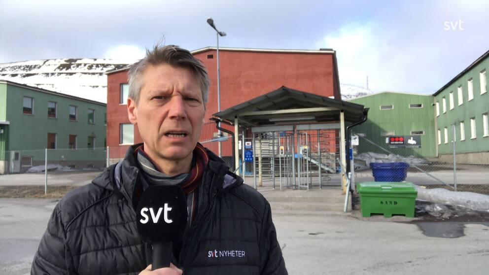 Hasse Sternlund framför LKAB.