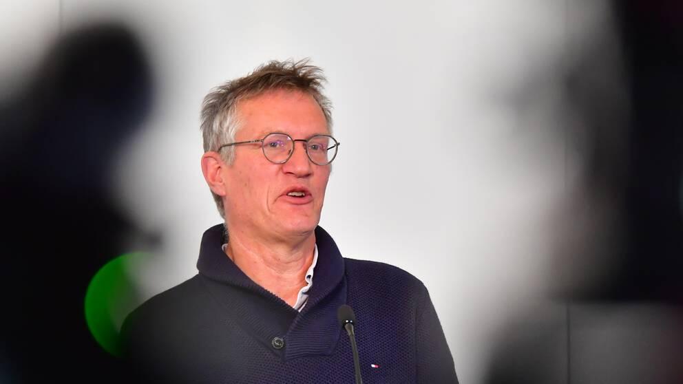 Statsepidemiolog Anders Tegnell under måndagens pressträff.