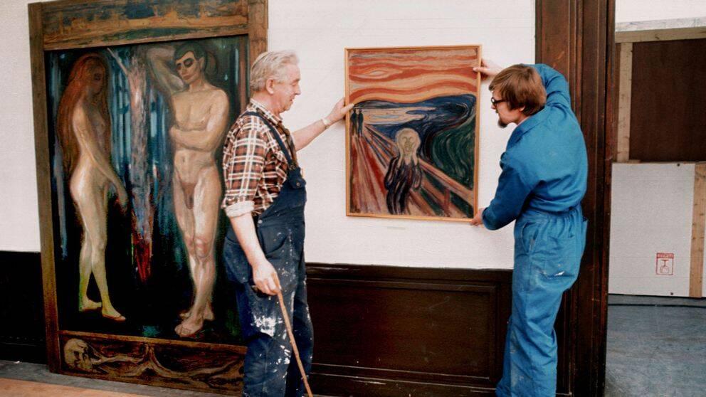 Skriet när den visades under en konstutställning på Liljevalchs Konsthall.