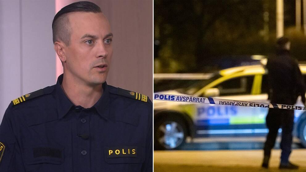 Kriminalinspektör Simon Häggström som var med under insatsen.