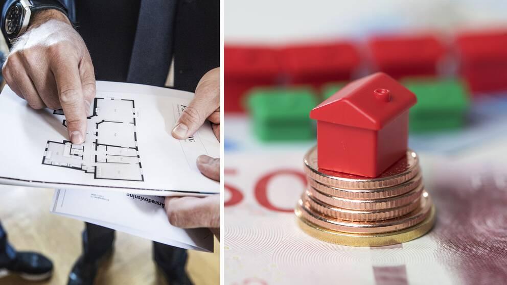 Mäklare, visning, bostadspriser