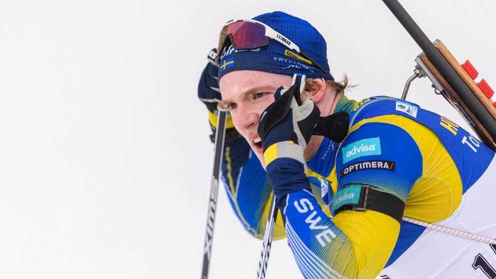 Sebastian Samuelsson pustar ut efter en tävling