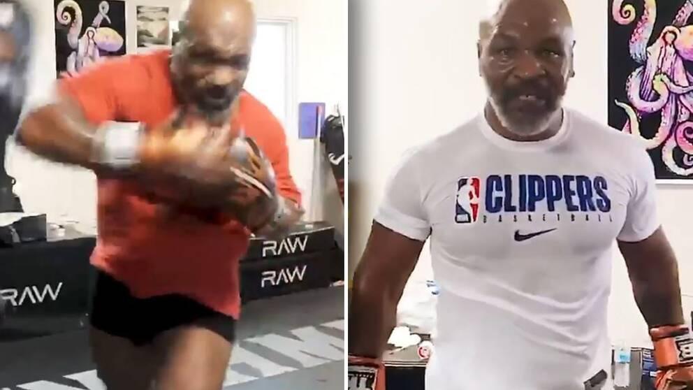53-årige boxningslegendaren Mike Tyson ser mer vältrimmad ut än på flera år.