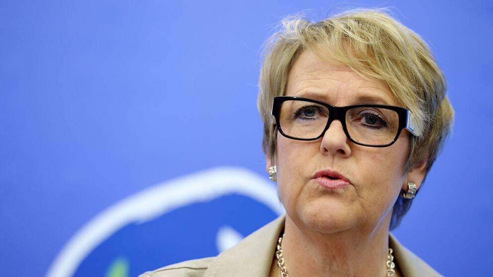 Riksdagsledamoten Désirée Pethrus (KD), ledamot i Exportkontrollrådet.