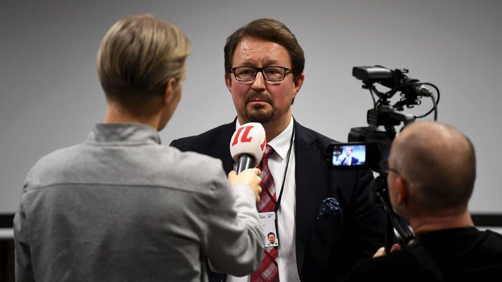 Mika Salminen, hälsosäkerhetschef vid Institutet för hälsa och välfärd, jämställs ofta med svenska statsepidemiologen Anders Tegnell. Arkivbild.
