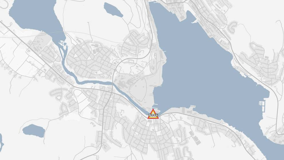 En karta över där olycksplatsen inträffade.