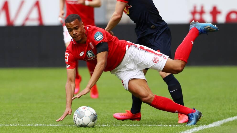 Robin Quaison och hans Mainz har haft det tungt mot Leipzig den här säsongen.
