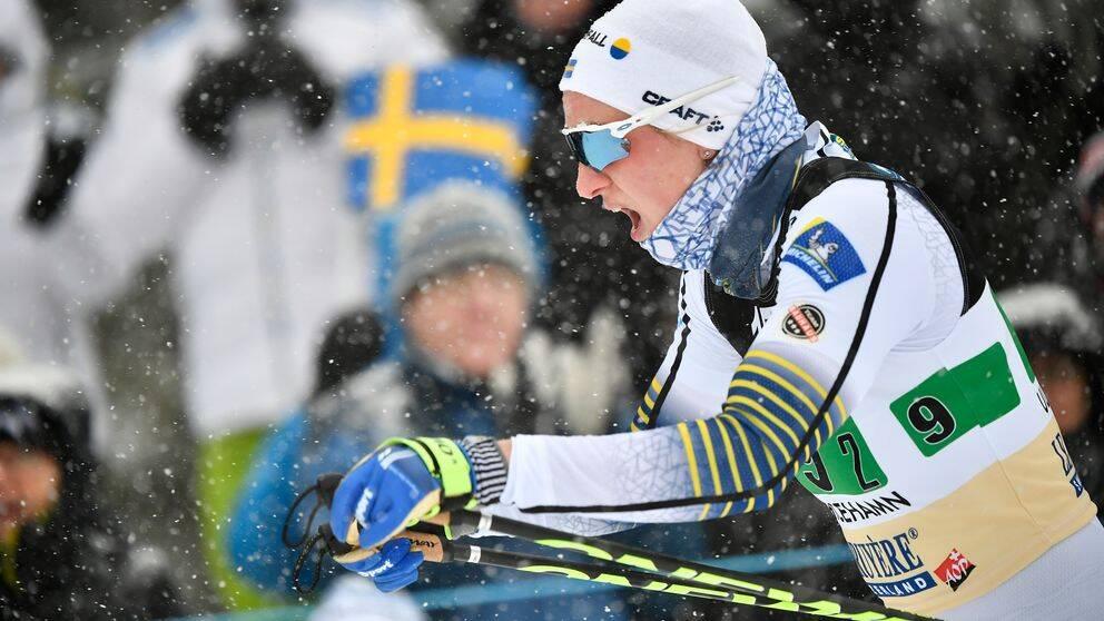 Linn Sömskar under vc-tävlingarna i Ulricehamn 2019.