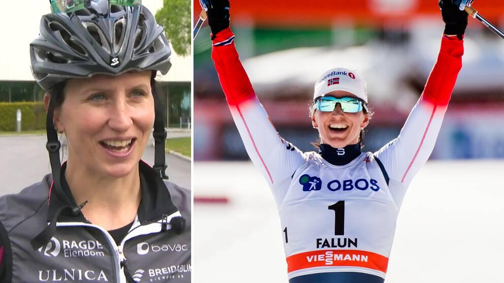 Marit Björgen i bröderna Auklands Team Ragde Eiendom.