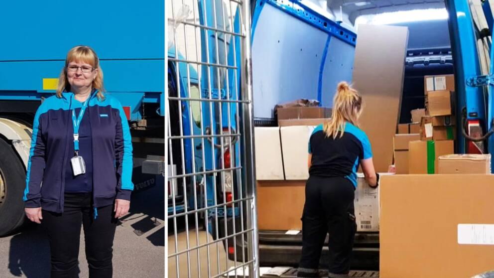 Katarina Sörman, distributionsområdeschef Postnord, berättar om rekordökningen av paket.