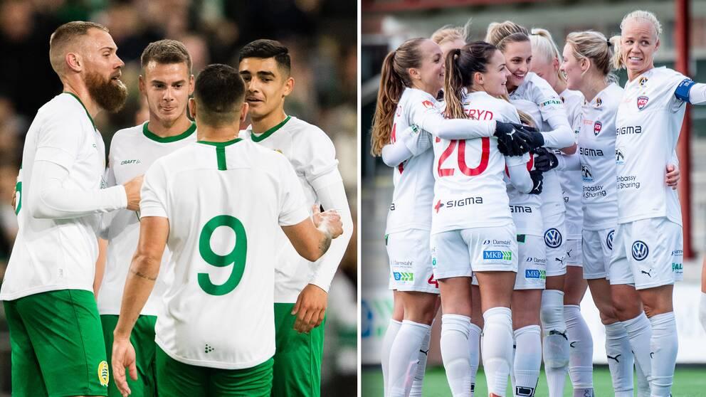 Hammarby och Rosengård är två lag som nu tillåts göra fem byten när serierna drar i gång.