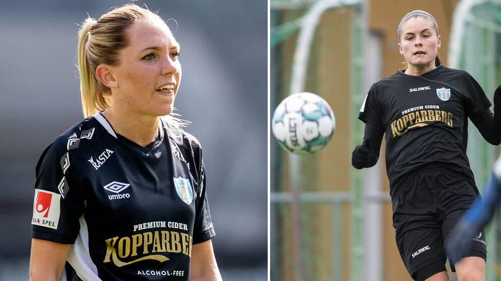 Elin Rubensson och Anna Wijk, Göteborg FC.
