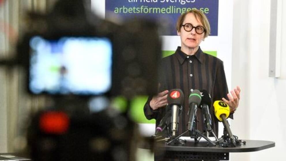 Annika Sundén är analyschef på Arbetsförmedlingen.