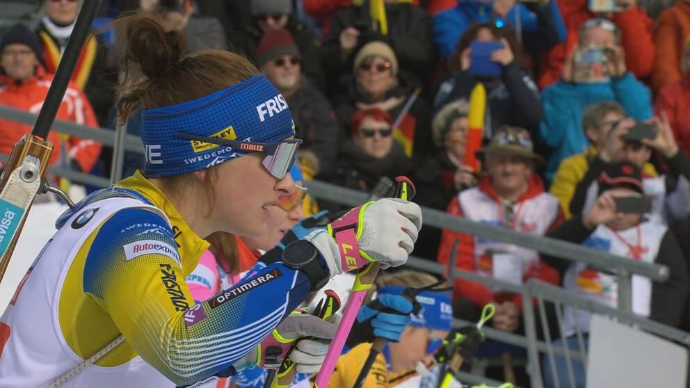 Linn Persson på startlinjen