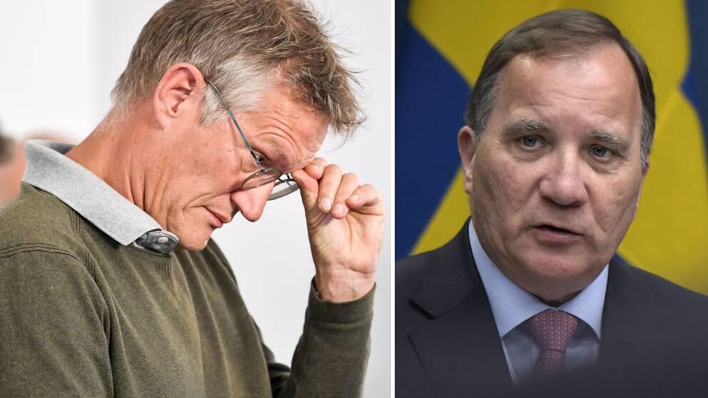Statsepidemiolog Anders Tegnell och statsminister Stefan Löfven (S).