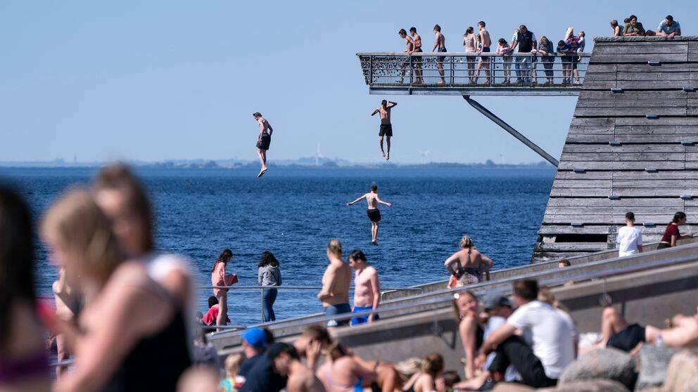 Solbad i Malmö.