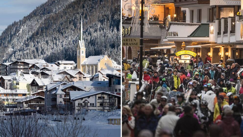 Bilder från skidorten Ischgl.