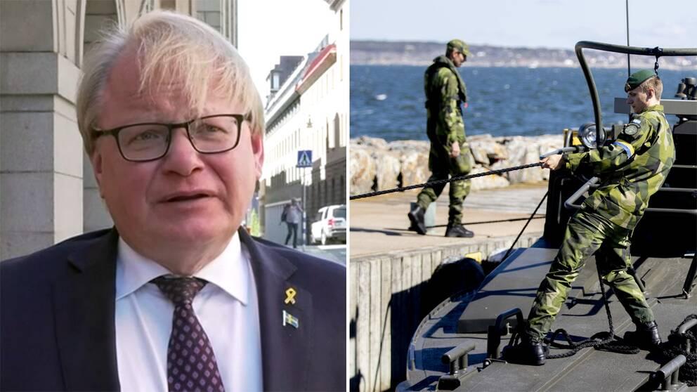 Försvarsminister Peter Hultqvist uppger att försvarssamtalen mellan regeringen och riksdagspartierna avbryts.