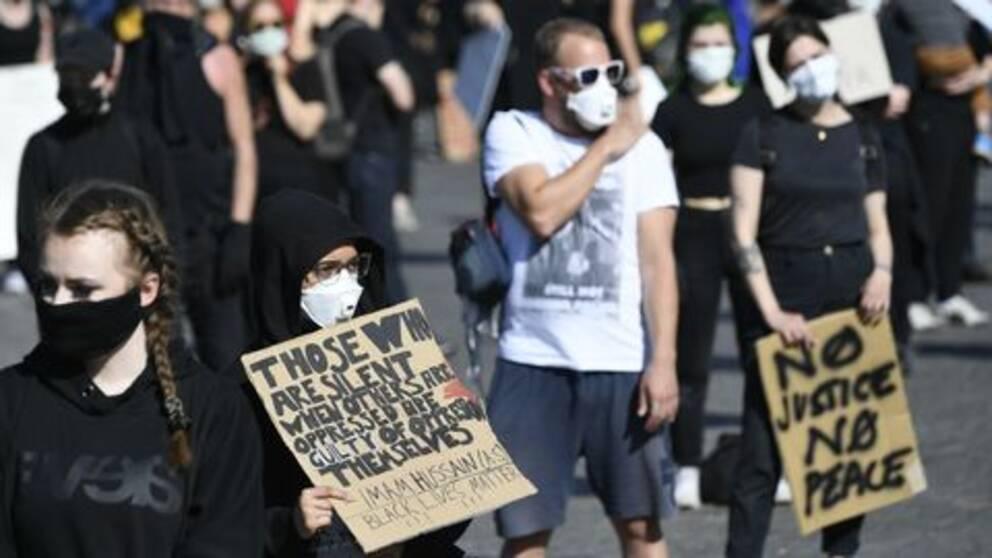 """Flera demonstrationer har hållits runt om i Sverige den senaste veckan. Bland annat i Malmö den 9 juni. Arkivbild från protesterna för """"Black lives matter""""."""