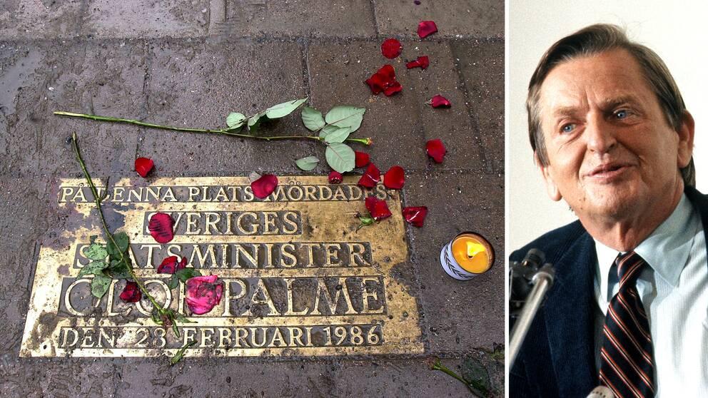 Mordplatsen på Sveavägen och Olof Palme