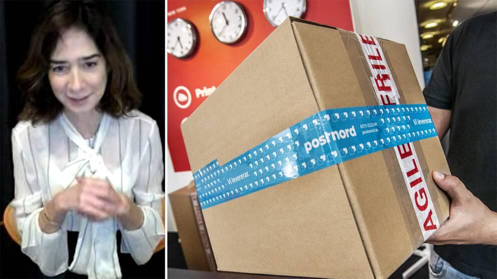 Youtubes Europachef Cecile Frot-Coutaz. Arkivbild på paket.