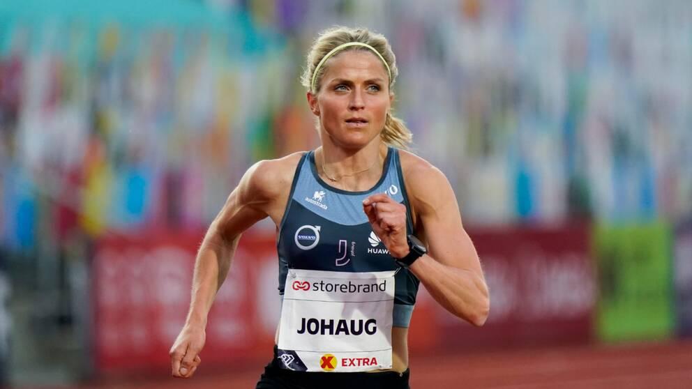 Therese Johaug på Bislett Games.