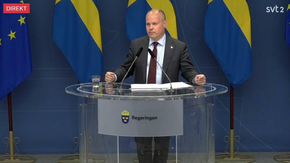 Justitie- och migrationsminister Morgon Johansson (S)