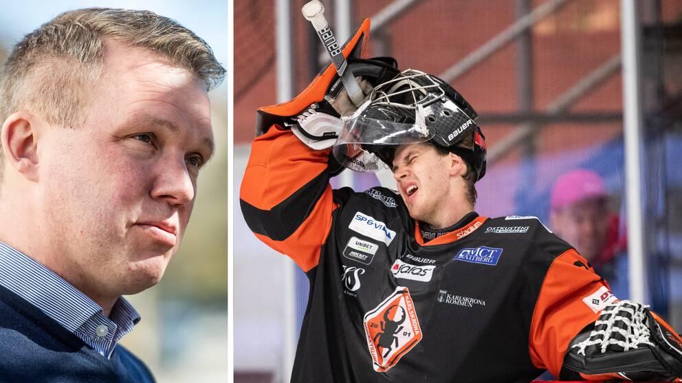 Hockeyallsvenskan har gått ut med ett öppet brev där de kritiserar Anders Larsson, efter att Karlskrona nekats elitlicens.
