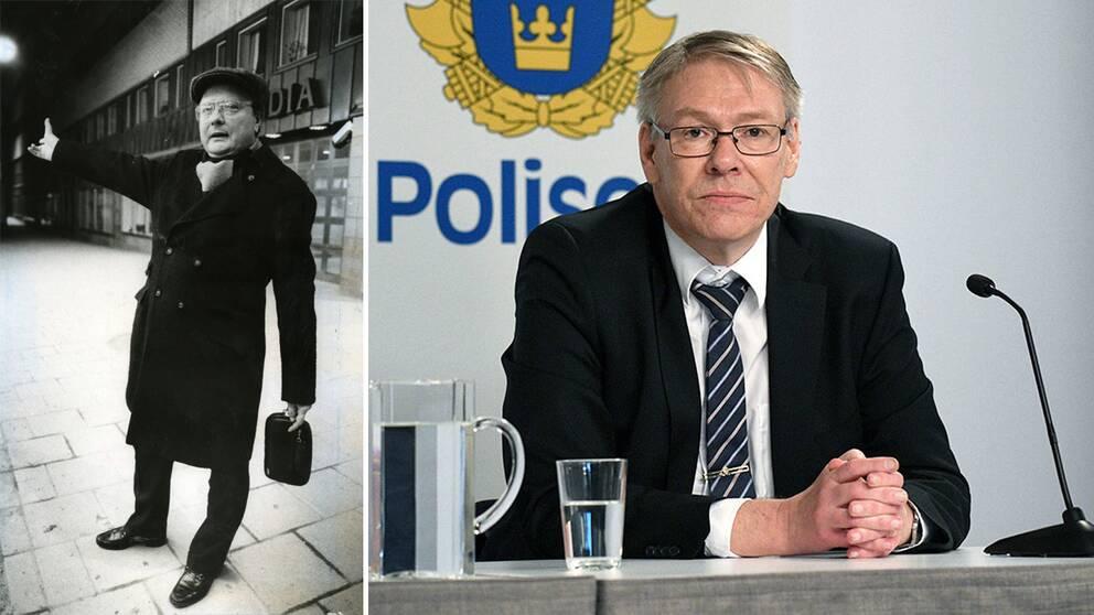 Stig Engström och åklagare Krister Petersson.
