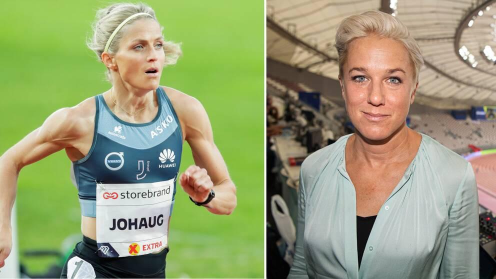 Kajsa Bergqvist tror inte på några friidrottsmedaljer för Therese Johaug.