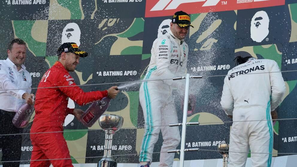 Det blir inget bubbelfirande i F1.