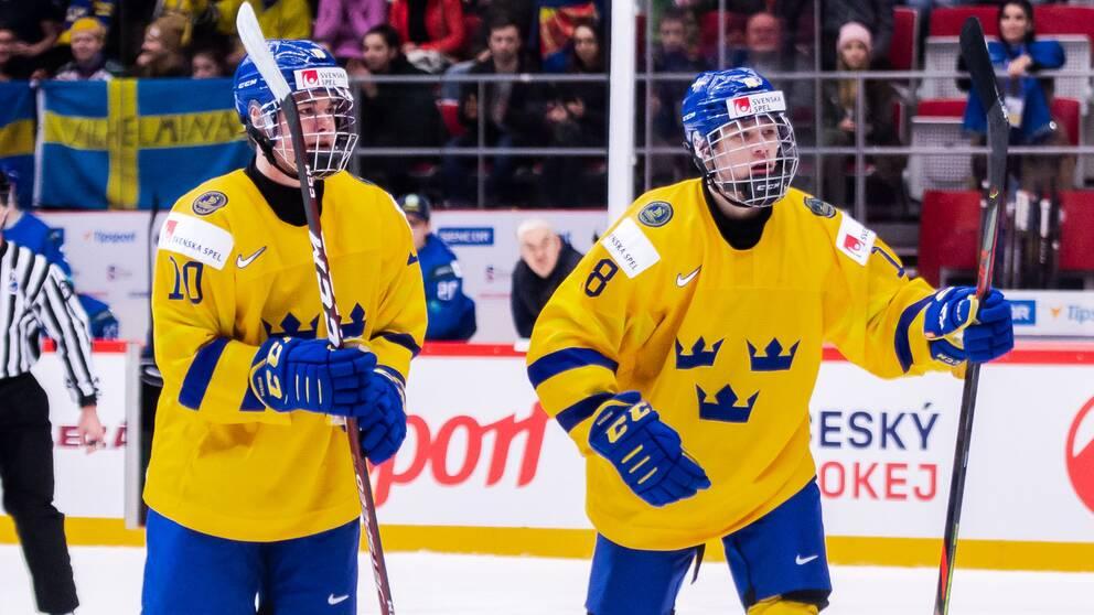 Alexander Holtz och Lucas Raymond.