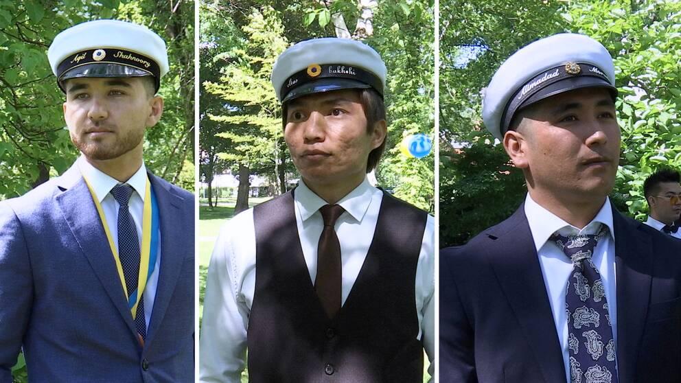 Aquil Shahnoory, Elias Bakhshi och Alimadad Morani har nyss gått ut gymnasiet. För att få stanna i Sverige måste de hitta fasta anställningar.