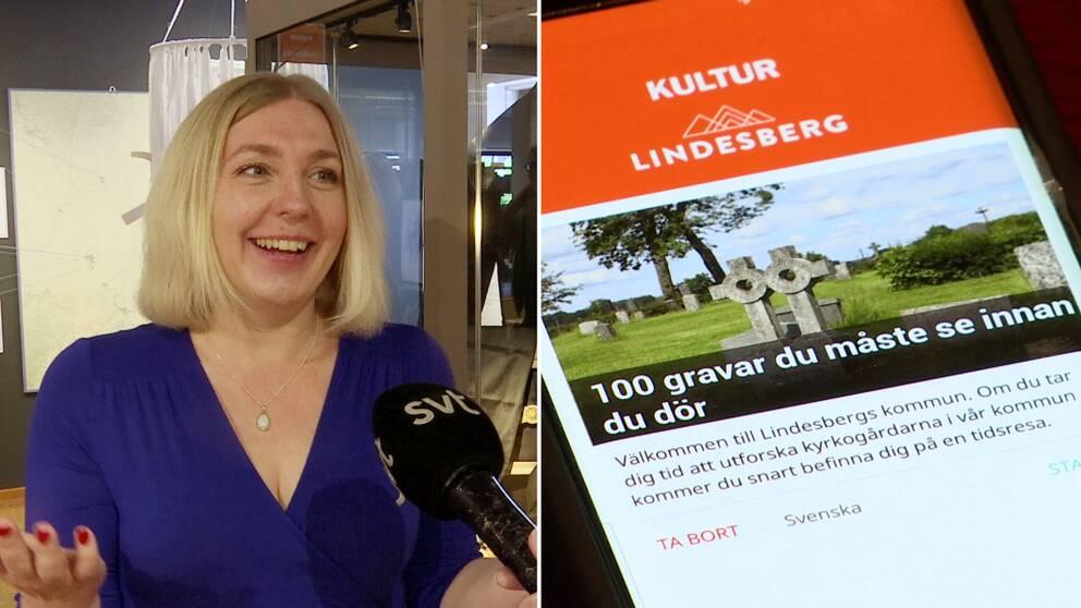 Hör kultursekreterare Sara Sporre, Lindesbergs kommun, berätta mer om den nya appen Kultur Lindesberg – 100 gravar du bör se innan du dör