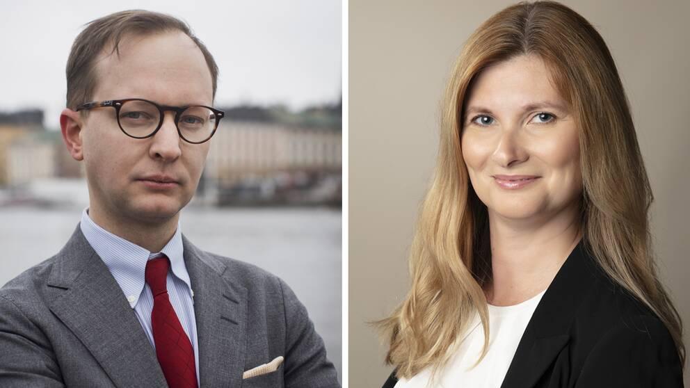 Patrick Krassén från stiftelsen Rättvis skatteprocess och Anna Torsson, verksjurist vid Skatteverket, har båda varit inblandade i fallet med Jörn.