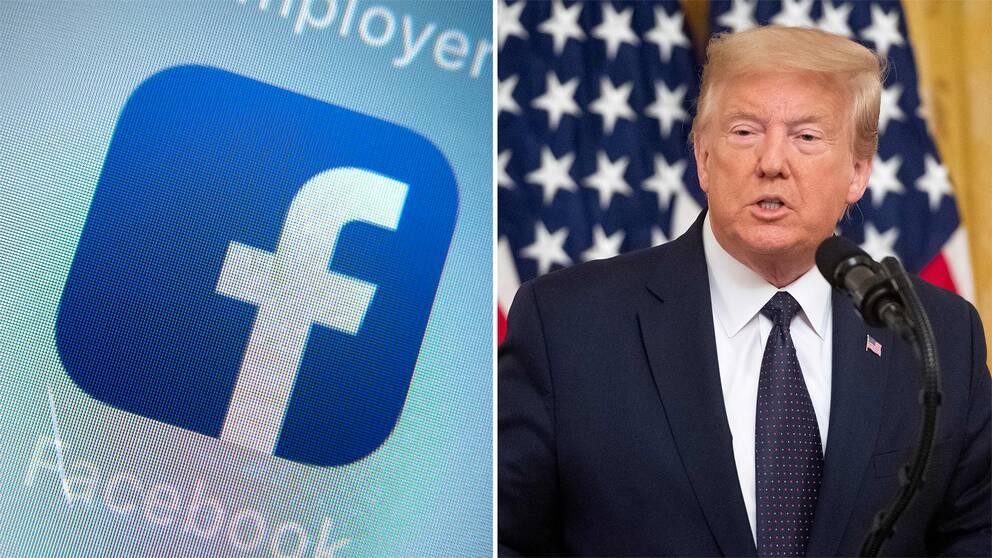 I en av Trumps valkampanjer syns en upp och nedvänd triangel. Facebook har nu plockat ner kampanjen då den strider mot sociala medier-jättens policy.