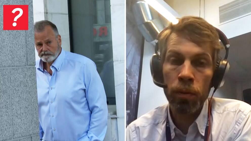 Dömde ex-polischefen Eirik Jensen i splittbild med NRK:s journalist Øyvind Gustavsen