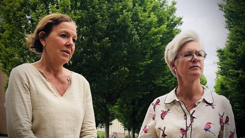 Ingrid Bergh, verhsamhetschef för vård- och omsorgsförvaltningen, till vänster och Annika Andersson, omsorgsdirektör i Helsingborgs stad.