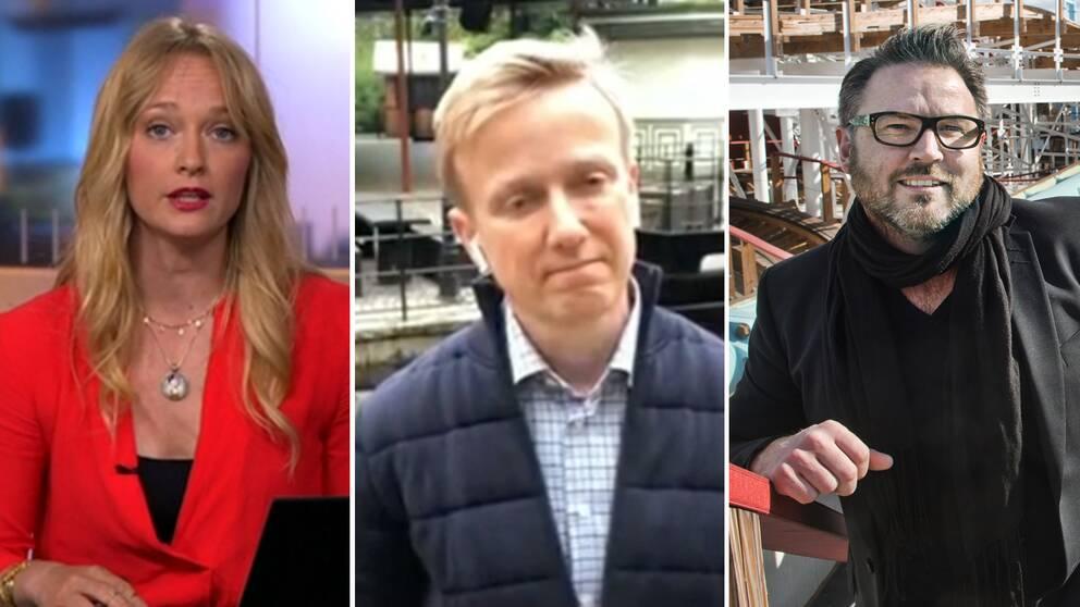 Lisebergs och Gröna Lunds vd:ar intervjuades av Karin Moberg i SVT Nyheters direktsändning.