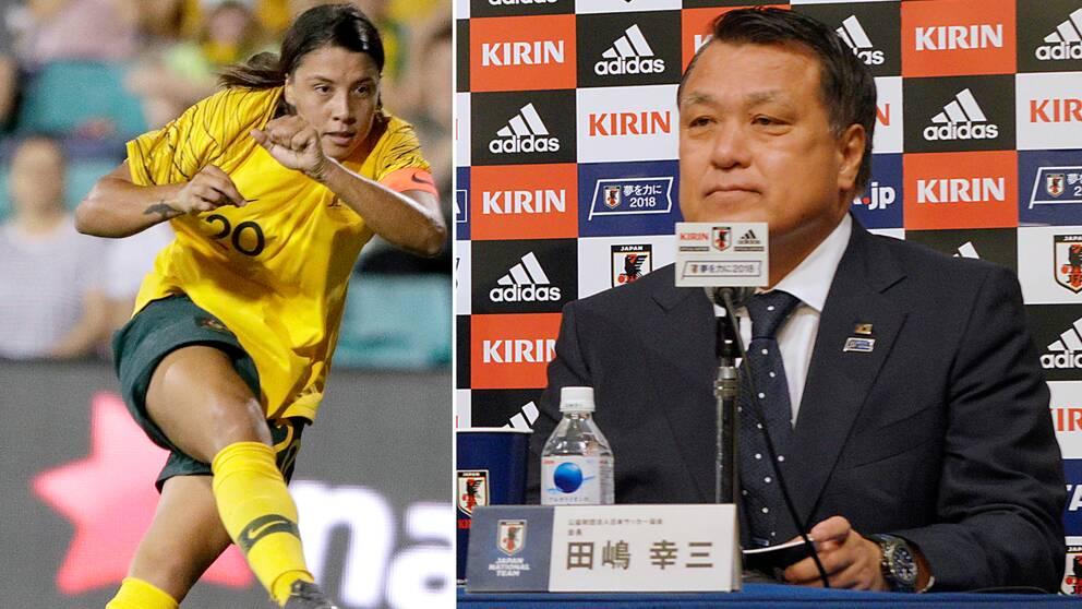 Det japanska fotbollsförbundet har dragit sig ur kampen om fotbolls-VM 2023. Det gör Sam Kerrs Australien, tillsammans med Nya Zeeland, till gigantiska favoriter.