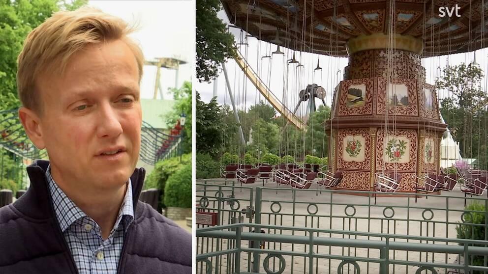 Se bilderna från ett folktomt Liseberg, och hör nöjesparkens vd Andreas Andersen berätta om vad det faktiskt innebär att man tvingas hålla stängt hela sommaren.