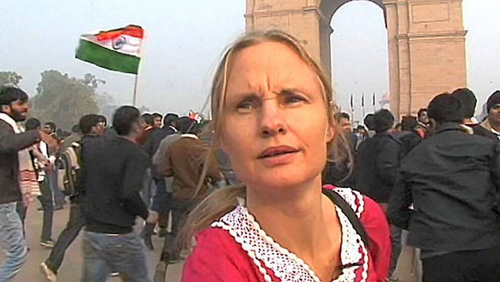 Indien protesterar mot intrang